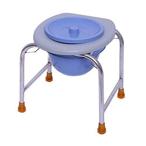BTPDIAN Toilette Edelstahl WC Sitz ältere Schwangere Frauen Stuhl Hocker Anti-Rutsch-Patienten Bad Hocker WC erhöhte Toilette (größe : 40cm)