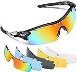 HODGSON Polarized Sports Sunglasses for Men Women with 5 Interchangeable Lenses for Driving Baseball Cycling Running Ski Fishing Glasses, Tr90 Unbreakable