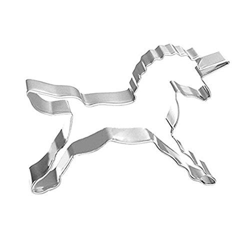 zantec Kekse 2Pcs Parted Edelstahl Cookie Cutter Kekse für DIY Hochzeit Kekse Kuchen Valentinstag Schokolade Angel Horse (Silikon-oreo-cookie-schimmel)