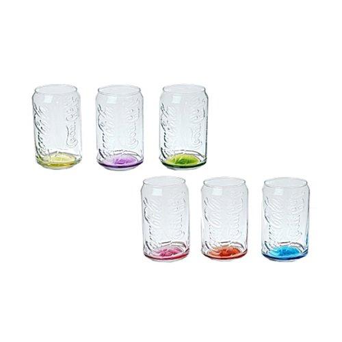 VISCIO TRADING Le verre peut Coca Cola 6 pièces de couleur Fonds CL36