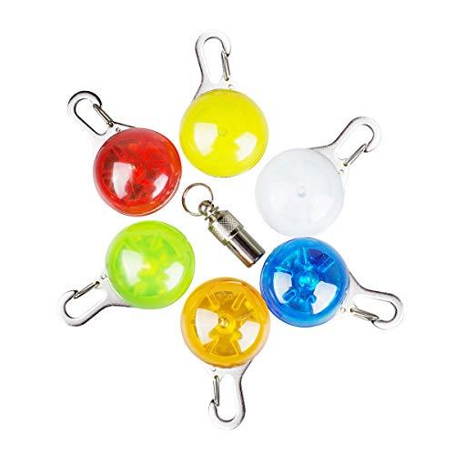 morpilot Collar LED Luz Perro, 6Pcs Clip-on Luces de Colores de Seguridad...