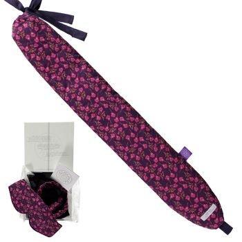 YUYU Bottle Liberty Fabrics stilvolle Wärmflasche zum Umbinden in versch. Farben Lila
