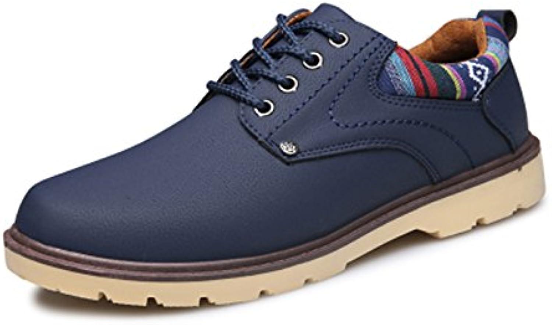 CHNHIRA Herren Leder Schnürhalbschuhe Sneakers  Billig und erschwinglich Im Verkauf