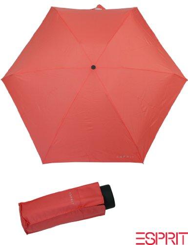 Esprit Petito living coral 51937 Regenschirm Taschenschirm Neon Orange