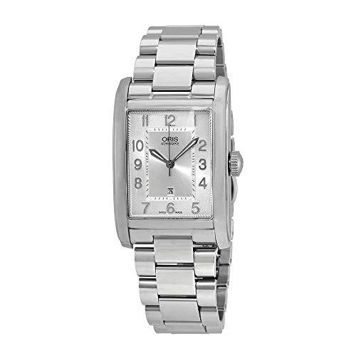 Oris Rectangular Silver Dial Stainless Steel Mens Watch 561-7693-4061MB