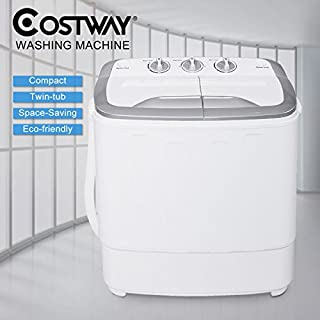 Costway Mini 5.6KG Twin Tub Washing Machine Home Washer Spin Dryer Portable Compact