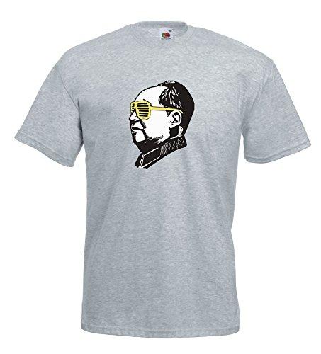 Settantallora - T-shirt Maglietta J110 Mao Pop Art Revolution Grigio