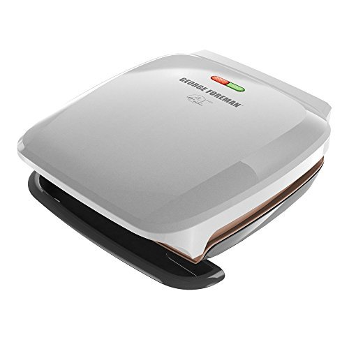 George Foreman GR260P 4 Serving Classic Plate Grill, Platinum by George Foreman