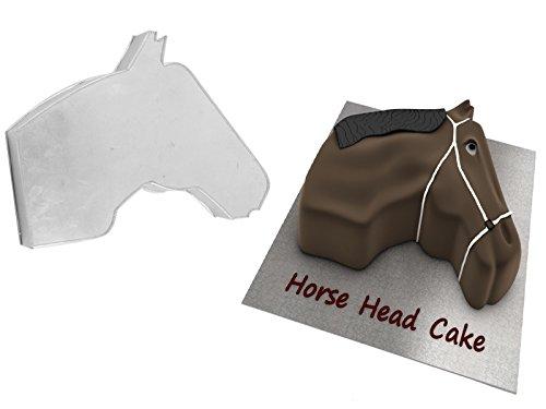 EURO TINS Moules à gâteau de forme spéciale d'anniversaire d'enfant en forme de TÊTE DE CHEVAL 38 cm