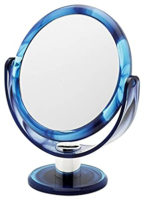 17cm Swirl Round Vanity Mirror x 10 mag/true image