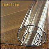 JKHSZKHH Le PVC nappePvc Nappe Transparent Imperméable À l'eau d'eau Et Cuisine Imperméable À l'huile en Verre Soft Cloth Nappe 1.0mm Protector Desk Pad Cover 75x155cm Transparent