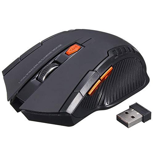 koowaa Optische Maus, kabellos, 2,4 GHz, für Gaming/Laptop - Schwarz - Kompakte Optische Maus