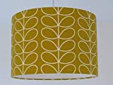 Mustard Yellow Gold Scandinavian Scandi Linear Stem Leaf Leaves Lampshade
