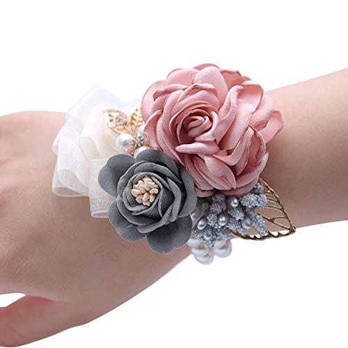 Besteu nozze sposa corpetto bouquet da polso damigella d'onore fiore per matrimonio homecoming party prom