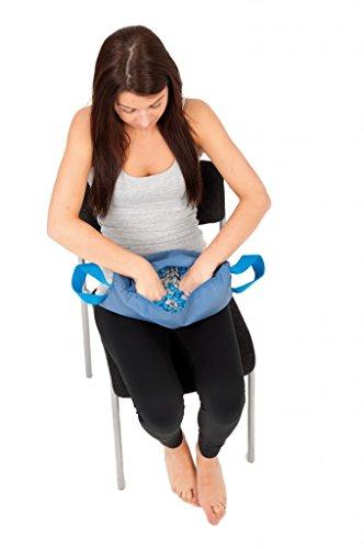 Preisvergleich Produktbild TheraBeans Bag blau 2,5kg - Trainingsmittel Kunststoffbohnen in 2 Größen / grau+blau/ in blauer Tasche/waschbar desinfizierbar Muskeltrainin