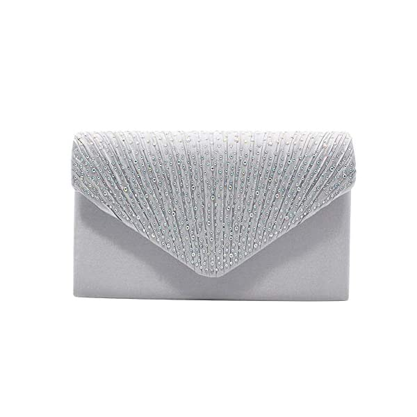 413D9UoGtfL. SS600  - 1PC del Rhinestone del bolso de embrague de cristal brillante de la tarde del sobre del bolso del monedero del bolso…