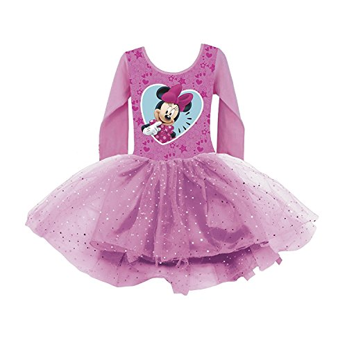 (Disney Minnie Maus Kleid Sommerkleid Ballettkleid Mädchenkleid Langarm (6 Jahre))