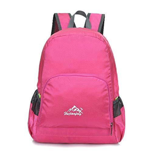 Morning May Man Mini Canvas Outdoor Rucksack Falttasche Kleine Tasche Taille Tasche Daypack Sport Camping Wasserdicht Tote Bag Rucksack, hot pink (Tasche Camping Canvas)