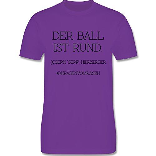 EM 2016 - Frankreich - Der Ball ist rund - Herren Premium T-Shirt Lila