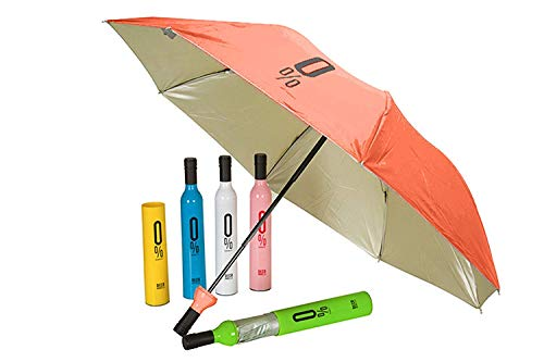 GAHI Bottle Shape Umbrellas for Women 3 Fold Stylish Umberallas for Rain and Umbrellas for Sun Protection Umbrella 3 Fold | Multicolour.