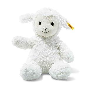 Steiff Soft Cuddly Friends Fuzzy Cordero Felpa, Sintético Blanco - Juguetes de Peluche (Cordero, Blanco, Felpa, Sintético, Oveja, Fuzzy, Niño/niña)