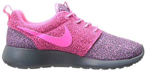 Nike Roshe Run Print, Chaussons Sneaker Femme Violet