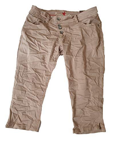 Buena Vista Damen Malibu-Capri Jeans Stretch Twil Beige S -