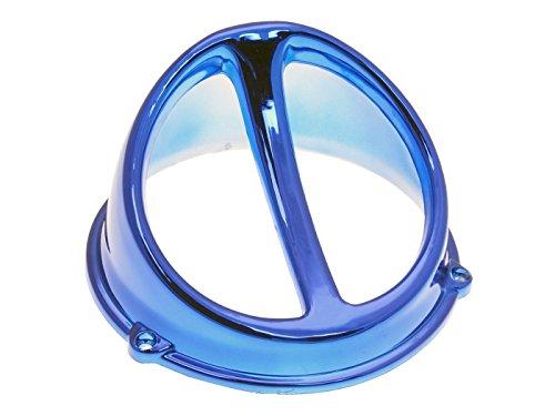 Lüfterspoiler Air Scoop Chrom blau - universal (Scoop Seitenverkleidung)