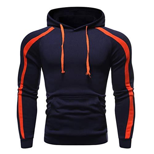 Mens Novelty Color Block Hoodies Cozy Sport Outwear ◆Elecenty◆ Sweatshirt Fashion Hooded Pullover Lange Ärmel Sportbekleidung Langarmpullover Tops -