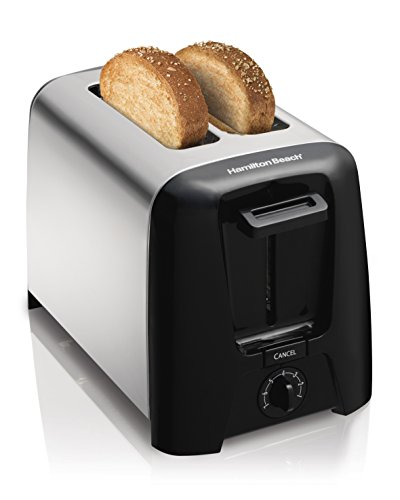 Hamilton Beach Modern Chrome 22614-IN 750-Watt 2 Slice Pop-Up Toaster (Stainless Steel and Black)