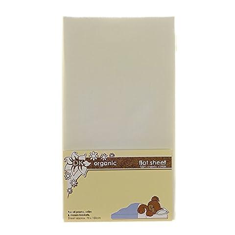 DK Glovesheets Flat Sheet for Prams and Cribs (Organic Cream)