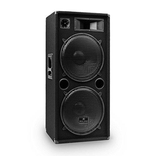 Malone PW-2222 - Fullrange PA Box, passiver 3-Wege Lautsprecher, 1000 Watt max. Leistung, 2 x 30 cm (12