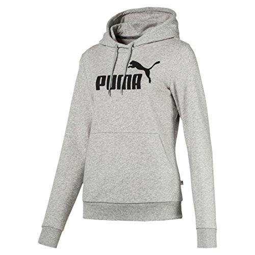 Puma Damen ESS Logo Hoody TR Pullover, Light Gray Heather, M