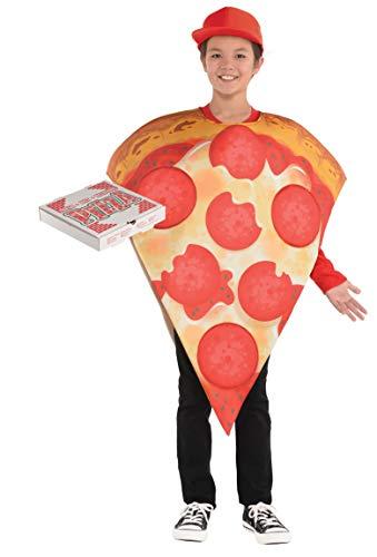 amscan 8400049-55 Kinderkostüm Pizza, Mehrfarbig, 8-10 ()