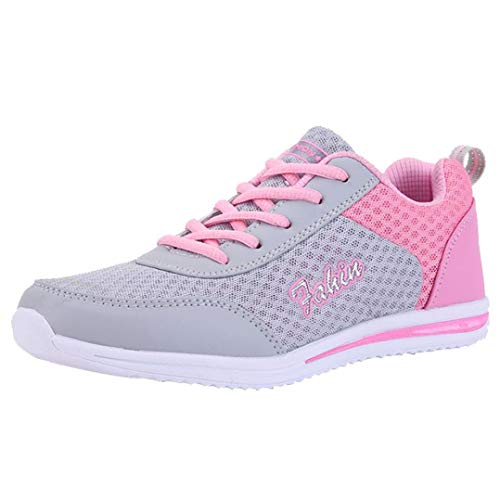 S&H NEEDRA Mode Frauen Schuhe Freizeitschuhe Outdoor Wanderschuhe Wohnungen Schuh SportschuheDamen Go Walk Lite Sneaker, Grau