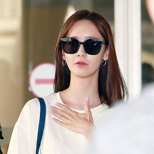 Sonnenbrille Men'S Influx Black Ultra Transparente Sonnenbrille Damen Persönlichkeit Mode Round Face Large Frame Square Sunglasses-3