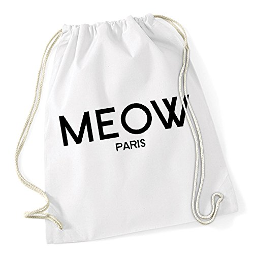 Meow Paris Sac De Gym Blanc Certified Freak