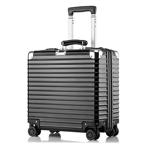 4-Rad-Laptop-Tasche Aluminium-Magnesium-Alloy-Trolley Executive-Geschäftstasche Mobiler Büro-Koffer 22 Zoll - Trolley-computer-tasche