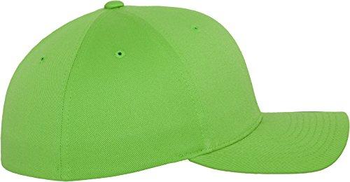 Flexfit Wooly Combed - 6 Panel Unisex Baseball Cap in 28 Farben, für Erwachsene und Kinder Fresh Green