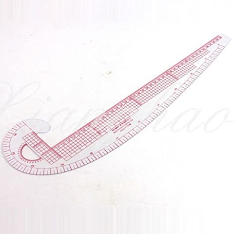 2 pcs 3 In 1 Plastic French Curve Metric Sewing Ruler Measure For Dressmaking Tailor Grading Rule Pattern Making by