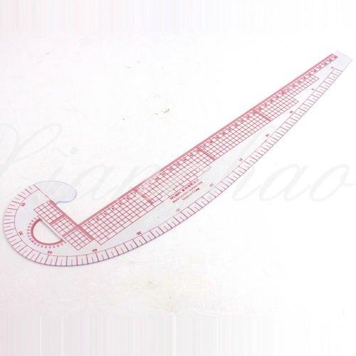 RZDEAL Regla de costura 3 en 1, sistema métrico, curva francesa, plá