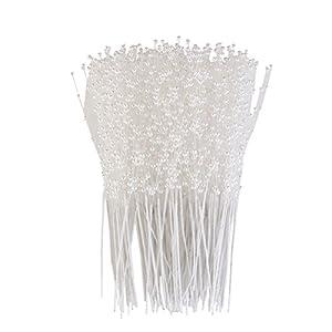 ULTNICE 100 Piezas Alfileres Perla Arreglos Florales Estambre de Flores Artificiales para Boda Decoración de Ramo de…