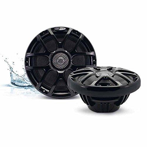 2-Wege Koaxial Marine Lautsprecher schwarz 20cm 200mm / 160Watt max / 80Watt RMS wasserfest RGB LED-Beleuchtung Boot / Sauna / Pool / Yacht / Outdoor Speaker - Rgb-koaxial