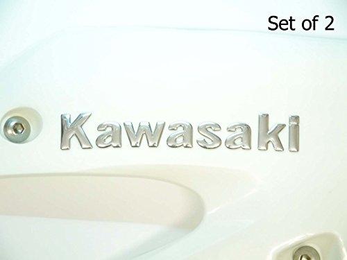 145x22mm CROMO KAWASAKI MOTO EMBLEMA INSIGNIA MOTO depósito de gasolina Gráficos ADHESIVOS
