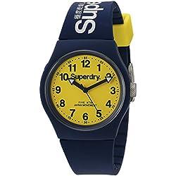 Superdry SYG164UY Mens Urban Blue Silicone Strap Watch