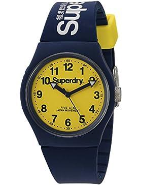 Superdry SYG164UY Urban Uhr Herrenuhr Kautschuk Kunststoff 5 bar Analog Blau