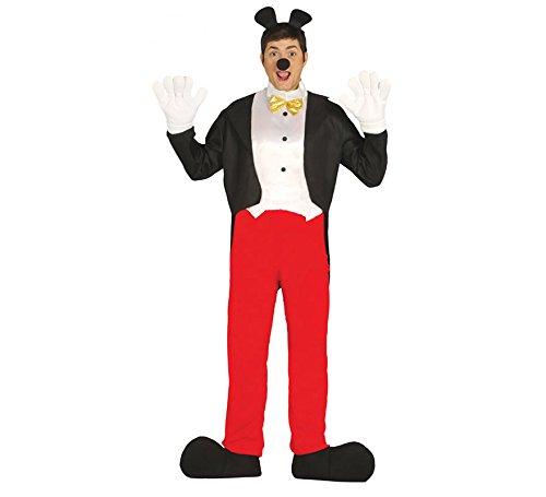 Kostüm Party Helden - Comic Maus Held - Kostüm Herren Karneval Fasching Party Ohren Zeichentrick Gr. M - L, Größe:M