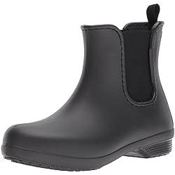 Crocs Freesail Chelsea Boot Women, Mujer Bota, Negro (Black/Black), 38-39 EU