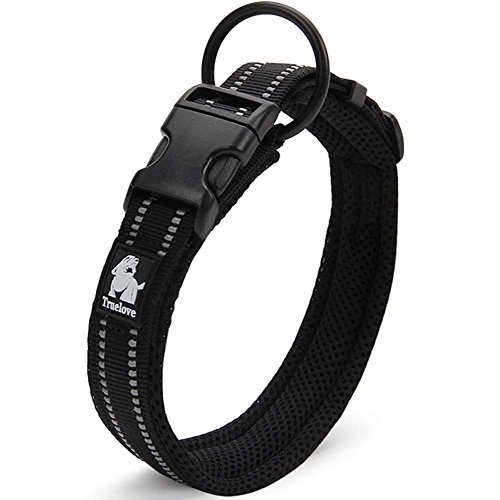 Treat Me Hundehalsband Weich Luftdurchlässig Nacht Vision 3M Reflektierenden Streifen für Kleine / Mittlere und Große Hund (von 35-55cm)
