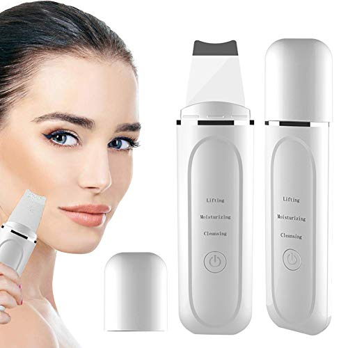 Ultraschallpeelinggerät Aibeau Skin Scrubber, Mitesserentferner Elektrischer Porenreniger Akne Entferner Ultraschall Haut Scrubber Ultraschall-Gesichts-Haut-Reiniger-Gerät Mitesser-Abbau-Wäscher